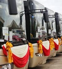 일본 버스 기증