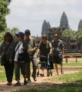 Asain tourism come to visit Angkor Temple