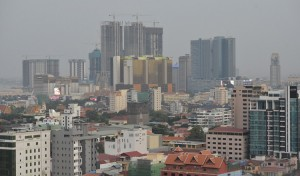 Phnom Pen's ever-rising skyline. KT/Pann Rachana