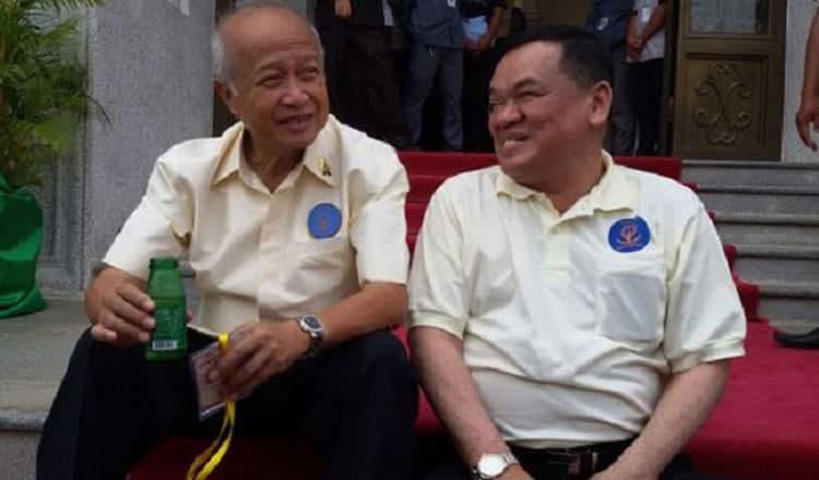 2021-05-25 노로돔 라나리드 푼신펙당 총재(왼)와 녁분차이 KNUP 총재