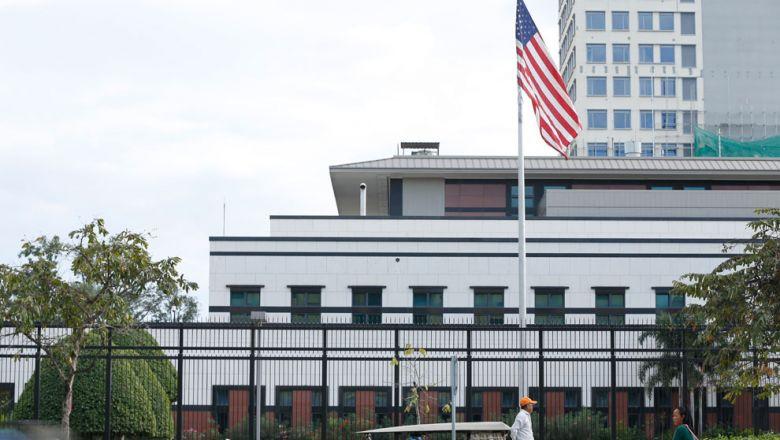 캄보디아 수도 프놈펜에 위치한 미국대사관