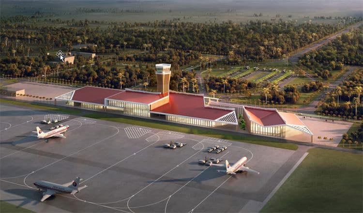 2021-06-09 꼬꽁주에 위치한 다라 사코 국제공항의 항공 조감도