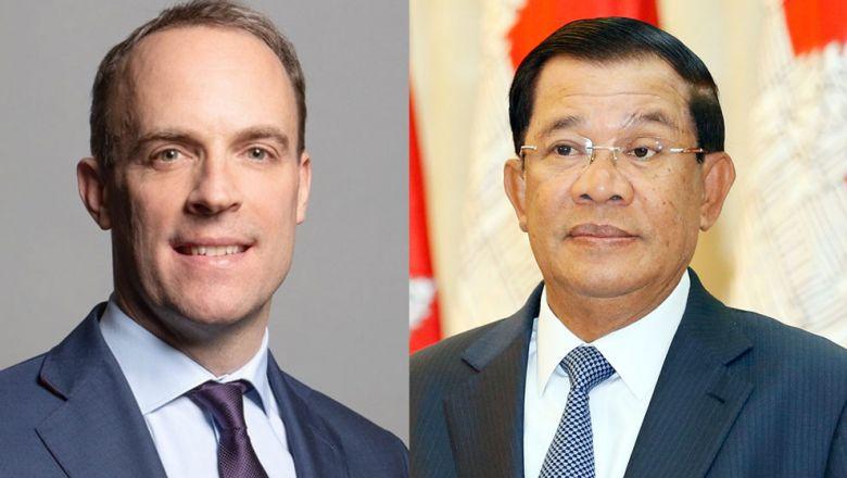 2021-06-23 훈센 총리가 7월 3일까지 격리에 들어하면서 영국 외무부 장관과의 회담도 취소됐다