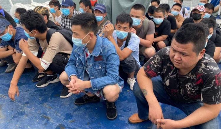 불법 입국 혐의로 검거된 중국인들