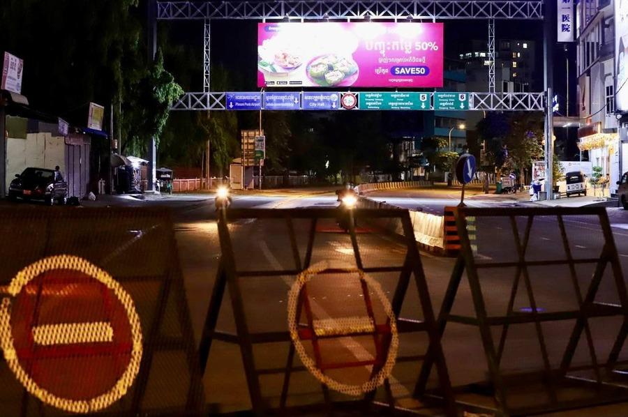 캄보디아 북부-서부 8개주가 2주간 봉쇄됐다