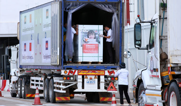 4백만 회분의 시노백 백신이 8월 프놈펜 국제 공항에 도착할 예정이다.