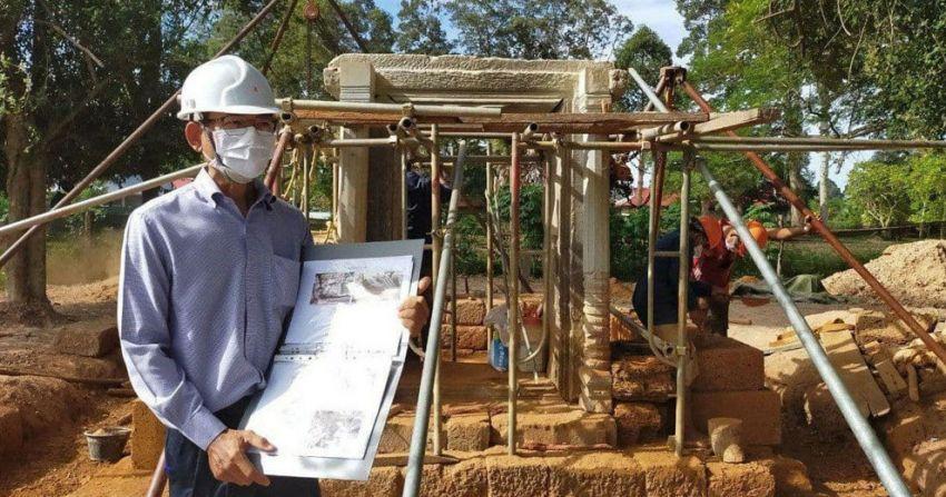 ▲ 캄보디아 압사라 당국이 앙코르 시대 유적인 바이까엑 사원의 복원사업이 올해 9월 말에 완료될 것이라고 발표했다.