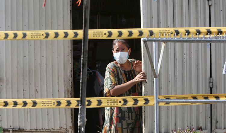 프놈펜 시내도 델타감염이 퍼지며 일부 주택이 봉쇄되고 있다