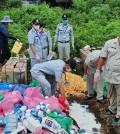 반티민쩨이 주 당국은 시장에서 압수한 2톤 이상의 부적합 식품을 폐기했다.